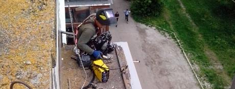 Ремонт балконных козырьков Кировоград
