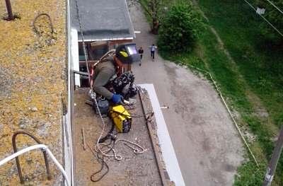 Ремонт балконных козырьков в Кировограде